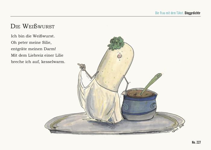 Weißwurst Postkarte