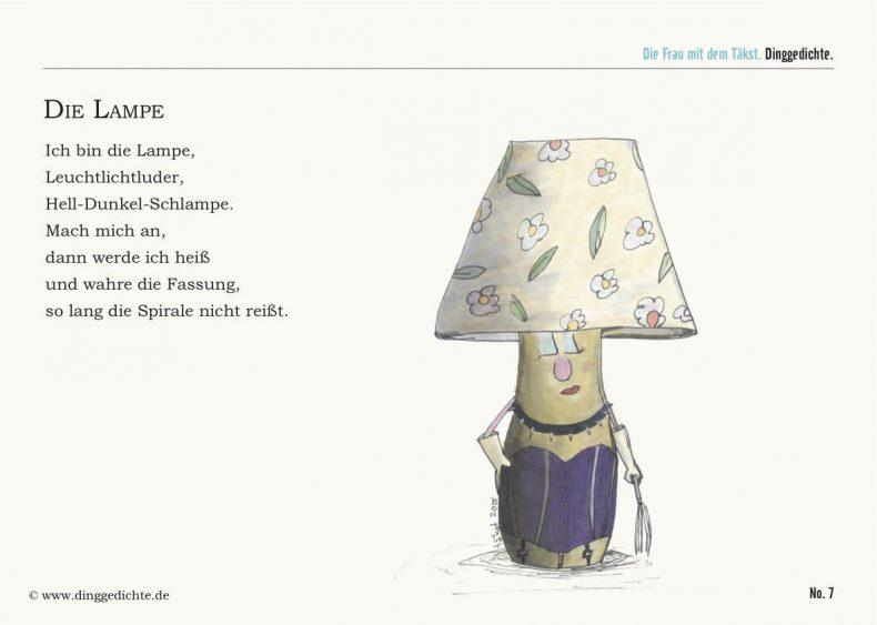 Lampe Postkarte