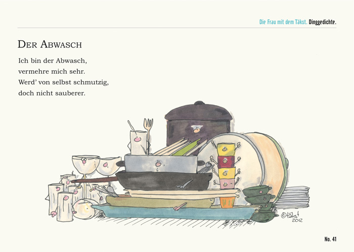 Abwasch Postkarte